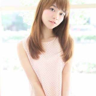 モテ髪 ロング 卵型 ナチュラル ヘアスタイルや髪型の写真・画像