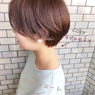 ショート ショートボブ デート オフィス ヘアスタイルや髪型の写真・画像