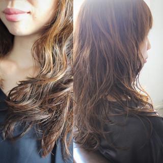 大人かわいい ロング フェミニン ピュア ヘアスタイルや髪型の写真・画像