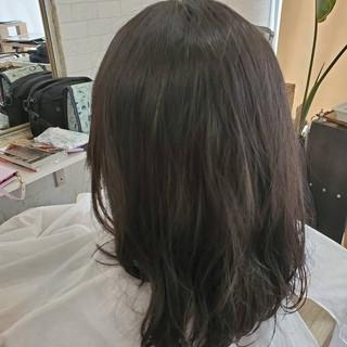 黒髪 縮毛矯正ストカール デジタルパーマ ナチュラル ヘアスタイルや髪型の写真・画像
