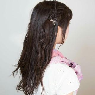 ガーリー 簡単ヘアアレンジ ロング ショート ヘアスタイルや髪型の写真・画像