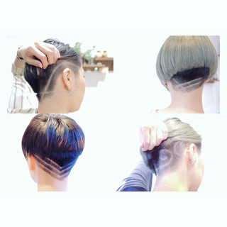 坊主 大人女子 モード ショート ヘアスタイルや髪型の写真・画像