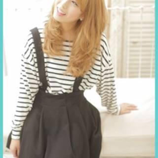 ガーリー ゆるふわ 渋谷系 丸顔 ヘアスタイルや髪型の写真・画像 ヘアスタイルや髪型の写真・画像