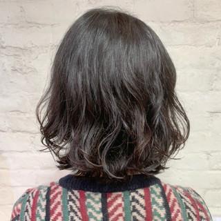 ボブ ボブ ゆるふわパーマ 大人かわいい ヘアスタイルや髪型の写真・画像