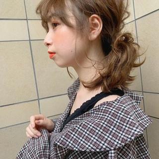 巻き髪 簡単ヘアアレンジ アウトドア ヘアアレンジ ヘアスタイルや髪型の写真・画像