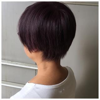 ショート ピンクアッシュ ショートヘア ピンクパープル ヘアスタイルや髪型の写真・画像