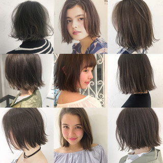 ボブ ガーリー 女子会 抜け感 ヘアスタイルや髪型の写真・画像
