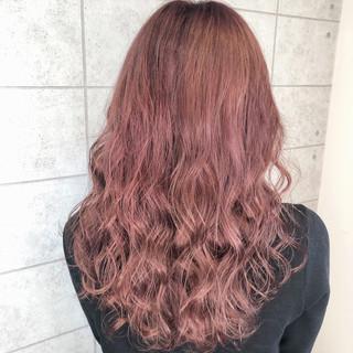イルミナカラー フェミニン ピンクラベンダー ロング ヘアスタイルや髪型の写真・画像