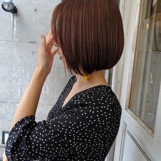 ナチュラル アプリコットオレンジ ブラウン 暖色 ヘアスタイルや髪型の写真・画像