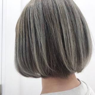 ボブ ブリーチ必須 ブリーチカラー ブリーチ ヘアスタイルや髪型の写真・画像