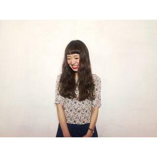 ガーリー ロング ピュア 外国人風 ヘアスタイルや髪型の写真・画像