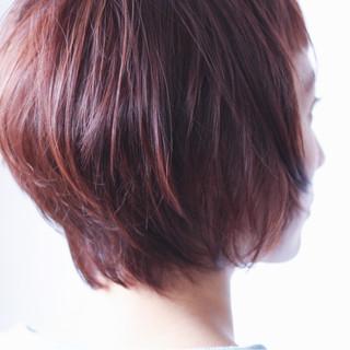 インナーカラー ひし形 ボブ 美シルエット ヘアスタイルや髪型の写真・画像