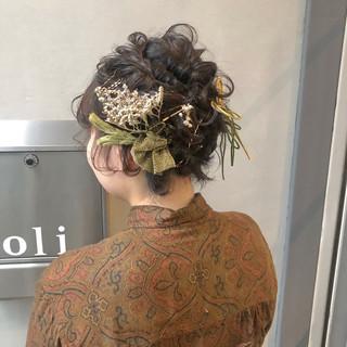 成人式 結婚式 卒業式 ショート ヘアスタイルや髪型の写真・画像 ヘアスタイルや髪型の写真・画像