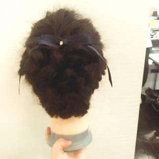 編み込み まとめ髪 ヘアアレンジ ロング ヘアスタイルや髪型の写真・画像 ヘアスタイルや髪型の写真・画像