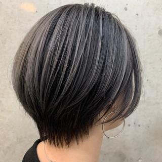 ショートヘア 小顔ショート ハイライト ショート ヘアスタイルや髪型の写真・画像