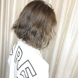 無造作パーマ ボブ パーマ ヘアスタイルや髪型の写真・画像