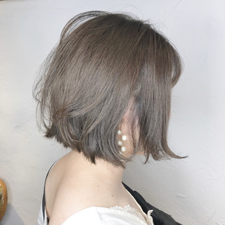 ブルーラベンダー ブルーグラデーション ナチュラル ブルージュ ヘアスタイルや髪型の写真・画像
