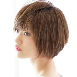 ショートボブ ナチュラル可愛い 大人可愛い ショート ヘアスタイルや髪型の写真・画像