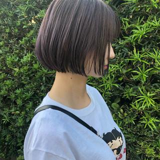 ショートヘア ミニボブ ボブ 切りっぱなしボブ ヘアスタイルや髪型の写真・画像