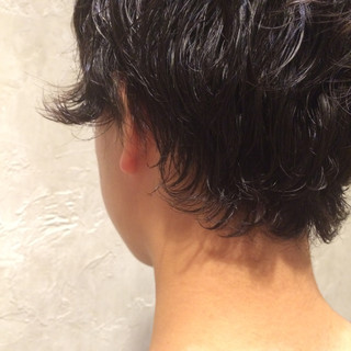 くせ毛風 ショート 黒髪 ストリート ヘアスタイルや髪型の写真・画像