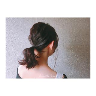 波ウェーブ ピンク ショート ミディアム ヘアスタイルや髪型の写真・画像