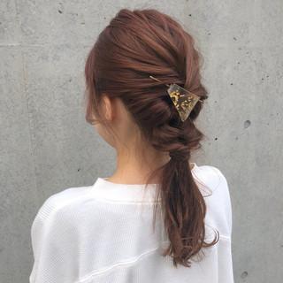 ヘアアレンジ セミロング 表参道 グレージュ ヘアスタイルや髪型の写真・画像