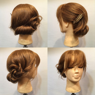 デート 結婚式 上品 セミロング ヘアスタイルや髪型の写真・画像