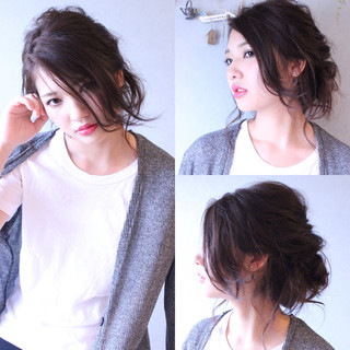 大人女子 ニュアンス うざバング セミロング ヘアスタイルや髪型の写真・画像