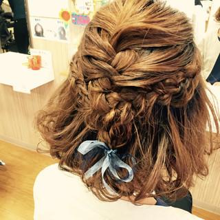 結婚式 ハーフアップ 二次会 ヘアアレンジ ヘアスタイルや髪型の写真・画像 ヘアスタイルや髪型の写真・画像