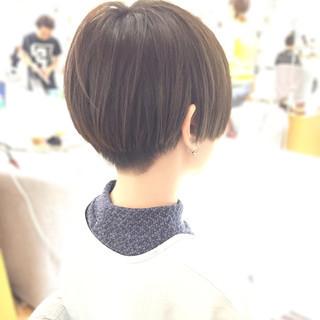 透明感 秋 ナチュラル 坊主 ヘアスタイルや髪型の写真・画像