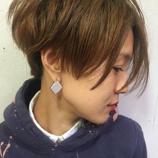 パーマ 外国人風 ショート 大人かわいい ヘアスタイルや髪型の写真・画像 ヘアスタイルや髪型の写真・画像
