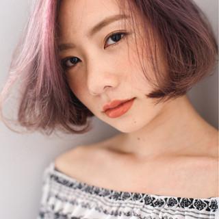 ボブ 春 グラデーションカラー 外国人風 ヘアスタイルや髪型の写真・画像