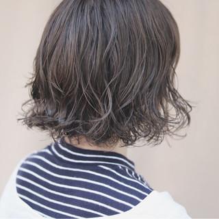 ボブ オルチャン デート イルミナカラー ヘアスタイルや髪型の写真・画像