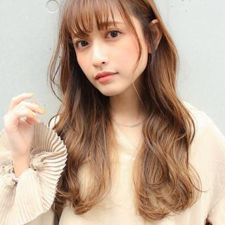 エレガント デジタルパーマ ヘアアレンジ レイヤーロングヘア ヘアスタイルや髪型の写真・画像