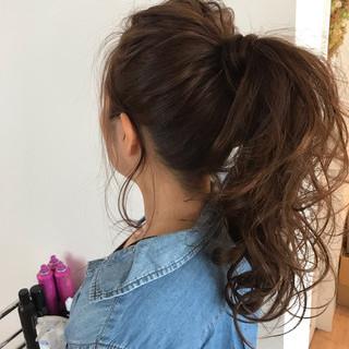 ナチュラル 簡単ヘアアレンジ アウトドア デート ヘアスタイルや髪型の写真・画像