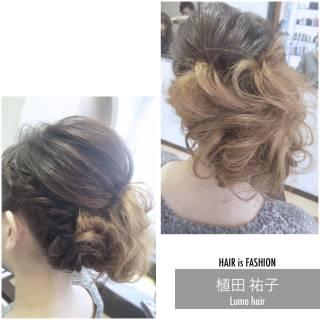 結婚式 編み込み 着物 二次会 ヘアスタイルや髪型の写真・画像