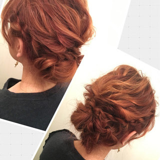 ゆるふわ ヘアアレンジ 編み込み ミディアム ヘアスタイルや髪型の写真・画像 ヘアスタイルや髪型の写真・画像