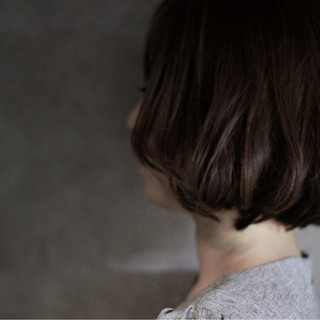 ナチュラル ボブ グレージュ 外国人風 ヘアスタイルや髪型の写真・画像