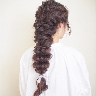 モテ髪 ロング 前髪パッツン 結婚式 ヘアスタイルや髪型の写真・画像