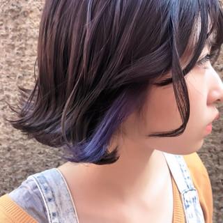切りっぱなし ゆるふわ ウェーブ フェミニン ヘアスタイルや髪型の写真・画像