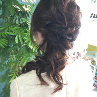 ヘアアレンジ ミディアム 結婚式 上品 ヘアスタイルや髪型の写真・画像 ヘアスタイルや髪型の写真・画像
