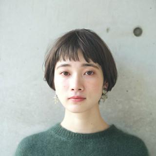 外国人風カラー 小顔 アッシュ 似合わせ ヘアスタイルや髪型の写真・画像