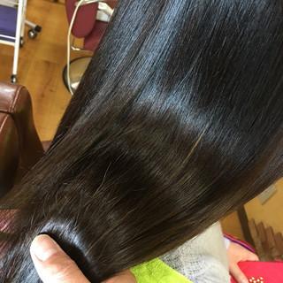 パーマ ストレート ストリート 縮毛矯正 ヘアスタイルや髪型の写真・画像