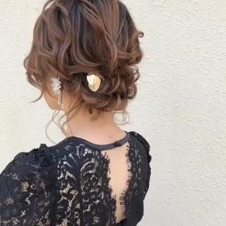 ボブ 結婚式ヘアアレンジ 大人かわいい ガーリー ヘアスタイルや髪型の写真・画像 ヘアスタイルや髪型の写真・画像