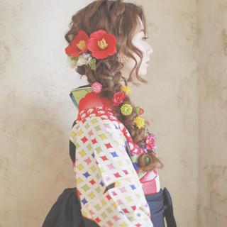 簡単ヘアアレンジ 成人式 ショート 外国人風 ヘアスタイルや髪型の写真・画像 ヘアスタイルや髪型の写真・画像