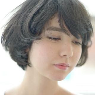 ナチュラル 簡単 フェミニン ボブ ヘアスタイルや髪型の写真・画像