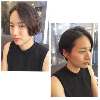 暗髪 色気 外国人風 モード ヘアスタイルや髪型の写真・画像