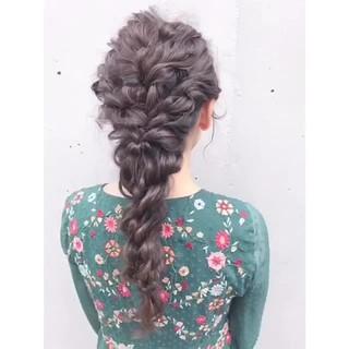 ヘアアレンジ 黒髪 フェミニン 結婚式 ヘアスタイルや髪型の写真・画像 ヘアスタイルや髪型の写真・画像