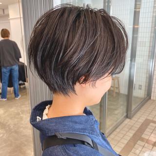 小顔ショート ショートヘア 大人かわいい ショート ヘアスタイルや髪型の写真・画像