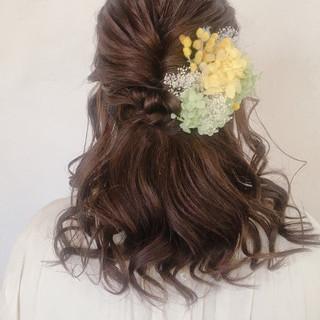 ヘアアレンジ デート 結婚式 パーマ ヘアスタイルや髪型の写真・画像